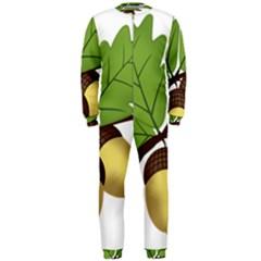 Acorn Hazelnuts Nature Forest Onepiece Jumpsuit (men)