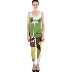 Acorn Hazelnuts Nature Forest Onepiece Catsuit