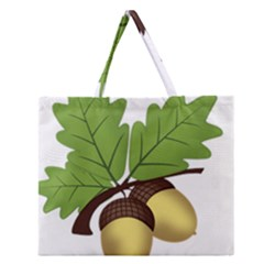 Acorn Hazelnuts Nature Forest Zipper Large Tote Bag