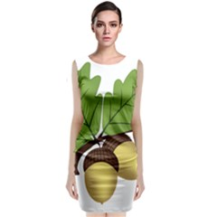 Acorn Hazelnuts Nature Forest Classic Sleeveless Midi Dress