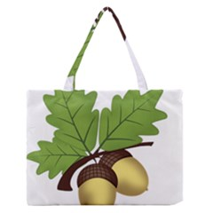Acorn Hazelnuts Nature Forest Medium Zipper Tote Bag