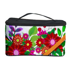 Heart Flowers Sign Cosmetic Storage Case