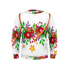 Heart Flowers Sign Kids  Sweatshirt