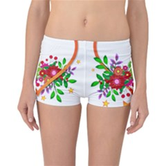 Heart Flowers Sign Reversible Bikini Bottoms