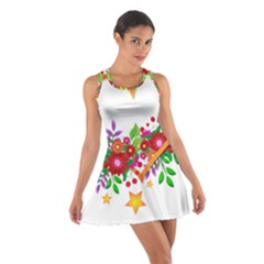 Heart Flowers Sign Cotton Racerback Dress