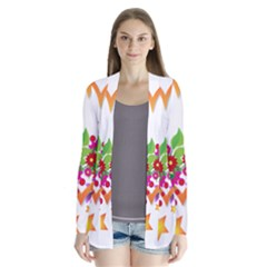 Heart Flowers Sign Cardigans