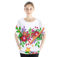 Heart Flowers Sign Blouse