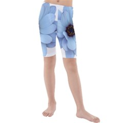 Daisy Flower Floral Plant Summer Kids  Mid Length Swim Shorts