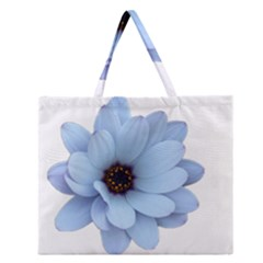 Daisy Flower Floral Plant Summer Zipper Large Tote Bag