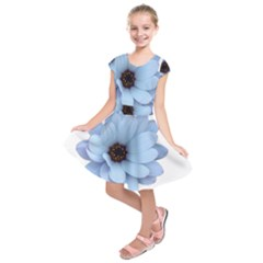 Daisy Flower Floral Plant Summer Kids  Short Sleeve Dress