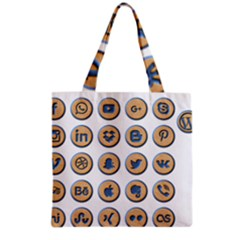 Social Media Icon Icons Social Grocery Tote Bag
