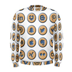Social Media Icon Icons Social Men s Sweatshirt