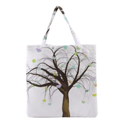 Tree Fantasy Magic Hearts Flowers Grocery Tote Bag
