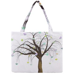 Tree Fantasy Magic Hearts Flowers Mini Tote Bag
