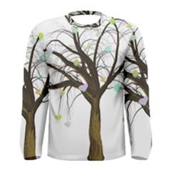Tree Fantasy Magic Hearts Flowers Men s Long Sleeve Tee