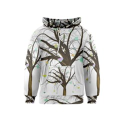 Tree Fantasy Magic Hearts Flowers Kids  Pullover Hoodie