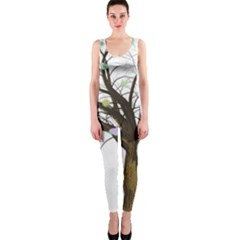 Tree Fantasy Magic Hearts Flowers Onepiece Catsuit
