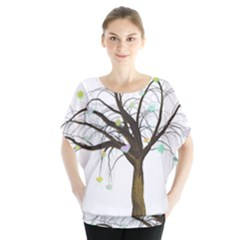 Tree Fantasy Magic Hearts Flowers Blouse