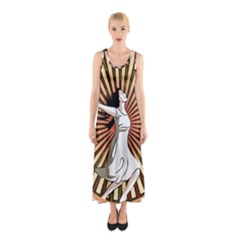 Woman Power Glory Affirmation Sleeveless Maxi Dress