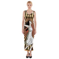Woman Power Glory Affirmation Fitted Maxi Dress