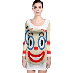 Clown Funny Make Up Whatsapp Long Sleeve Bodycon Dress