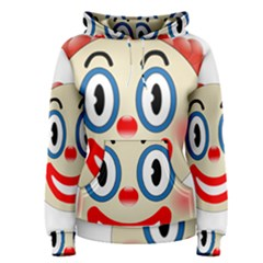 Clown Funny Make Up Whatsapp Women s Pullover Hoodie
