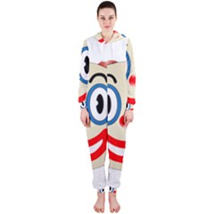 Clown Funny Make Up Whatsapp Hooded Jumpsuit (ladies)