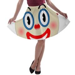 Clown Funny Make Up Whatsapp A-line Skater Skirt