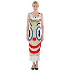 Clown Funny Make Up Whatsapp Fitted Maxi Dress