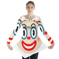 Clown Funny Make Up Whatsapp Long Sleeve Tunic