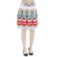 Clown Funny Make Up Whatsapp Pleated Skirt