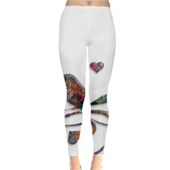 Birds Abstract Exotic Colorful Leggings