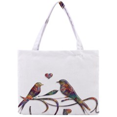 Birds Abstract Exotic Colorful Mini Tote Bag