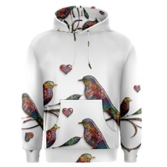 Birds Abstract Exotic Colorful Men s Pullover Hoodie