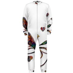 Birds Abstract Exotic Colorful OnePiece Jumpsuit (Men)