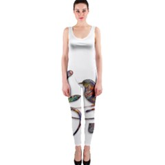 Birds Abstract Exotic Colorful OnePiece Catsuit