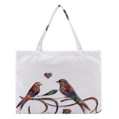 Birds Abstract Exotic Colorful Medium Tote Bag