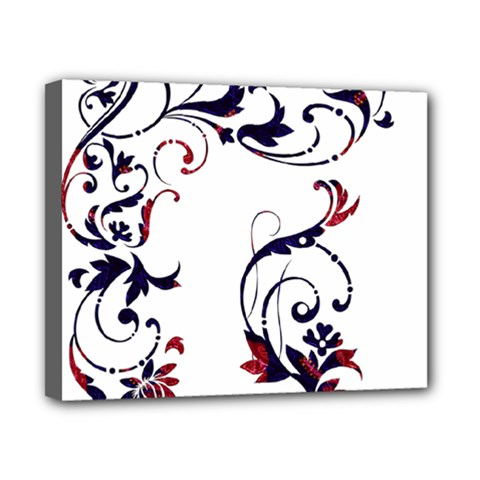 Scroll Border Swirls Abstract Canvas 10  x 8
