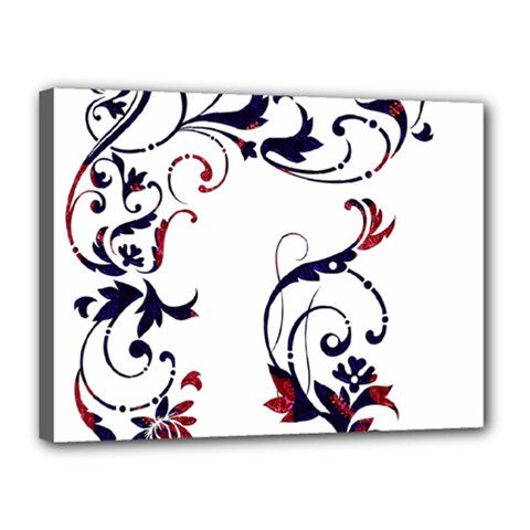 Scroll Border Swirls Abstract Canvas 16  x 12