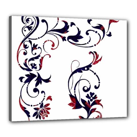 Scroll Border Swirls Abstract Canvas 24  x 20