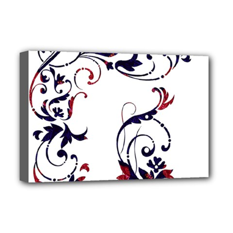 Scroll Border Swirls Abstract Deluxe Canvas 18  X 12