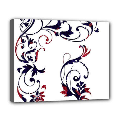 Scroll Border Swirls Abstract Deluxe Canvas 20  x 16