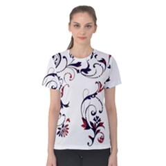 Scroll Border Swirls Abstract Women s Cotton Tee