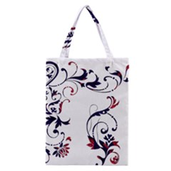 Scroll Border Swirls Abstract Classic Tote Bag