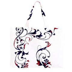 Scroll Border Swirls Abstract Large Tote Bag