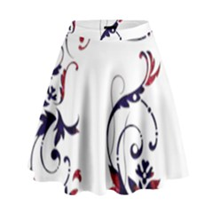 Scroll Border Swirls Abstract High Waist Skirt