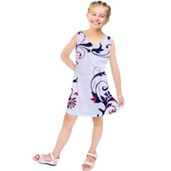 Scroll Border Swirls Abstract Kids  Tunic Dress