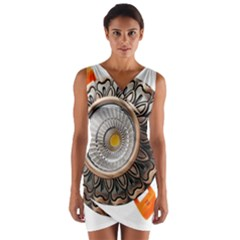 Lighting Commercial Lighting Wrap Front Bodycon Dress