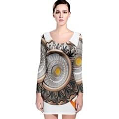 Lighting Commercial Lighting Long Sleeve Velvet Bodycon Dress