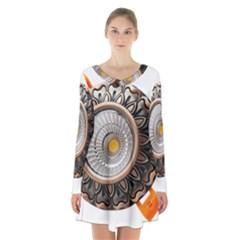 Lighting Commercial Lighting Long Sleeve Velvet V Neck Dress